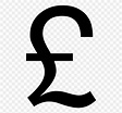 Pound Sign Pound Sterling Currency Symbol, PNG, 768x768px ...