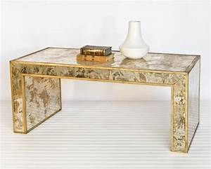 worlds away reverse mirror coffee table gold leaf With gold and mirror coffee table