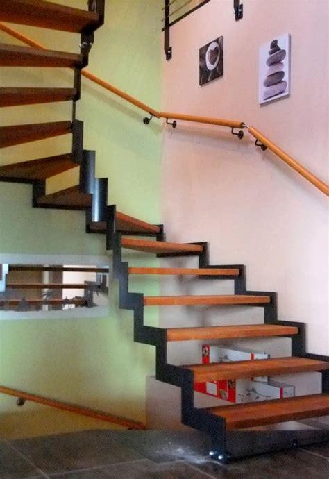 re escalier bois interieur escalier int 233 rieur avec limon cr 233 maill 232 re metal concept escalier ferronnerie d alsace