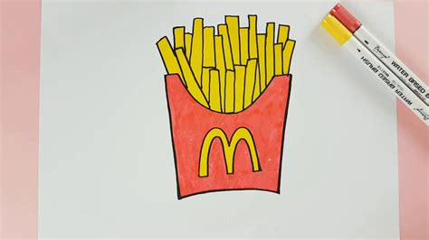 How To Color Mcdonald French Fries Kids Coloring Page