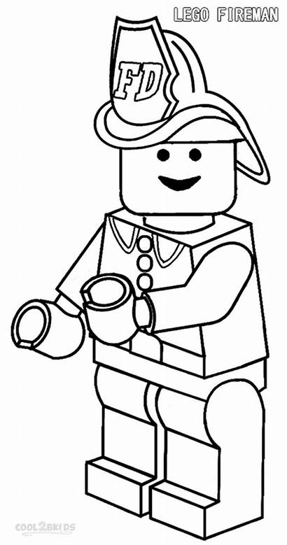 Coloring Fireman Pages Lego Printable Cool2bkids