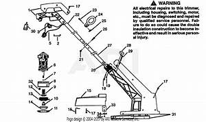 Poulan 1216 Electric Trimmer Parts Diagram For Trimmer