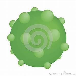 Simple Virus Diagram Cartoon Vector