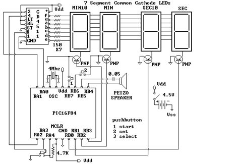 Led Display With Picf Adjustable Timer Circuit