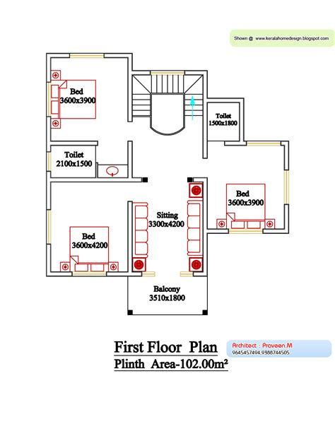 kerala style floor plan  elevation  home appliance