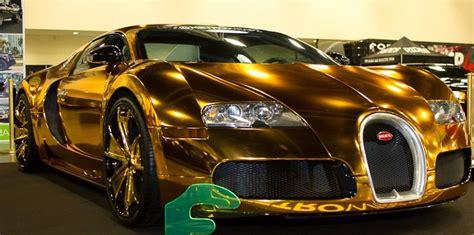 Bugatti Veyron Gold Wrapped For Us Rapper Flo Rida