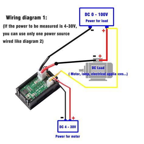 Voltmeter Ammeter Blue Red Led Dual Digital