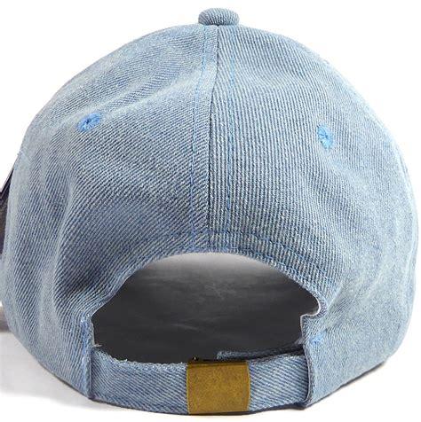 wholesale denim baseball caps blank jean dad hats in bulk