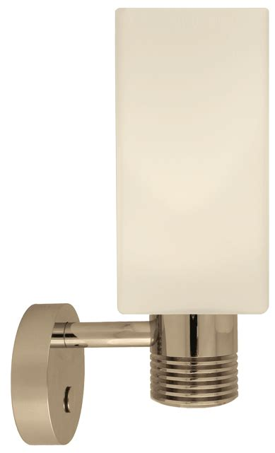 12 volt led wall sconce light 10 30vdc with glass shade and built in dimmer off switch