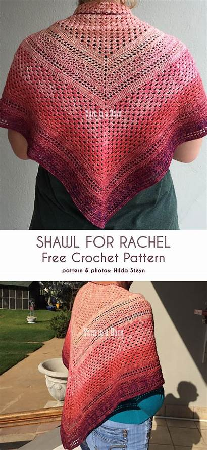 Crochet Easy Shawl Triangle Patterns Peasy Pattern