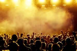 Rock Concert Crowd Cheering