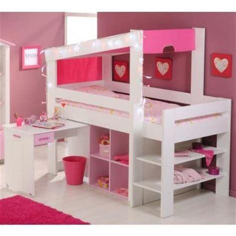 lit avec bureau pour fille lit mezzanine avec bureau pour fille visuel 6