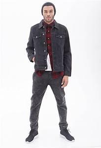 Forever 21 Classic Denim Jacket in Gray for Men | Lyst