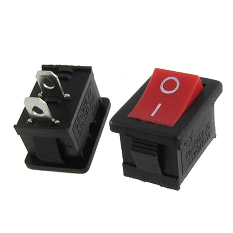 l on off switch 10x spst square i o labeled red rocker switch 12v dc 2 pin