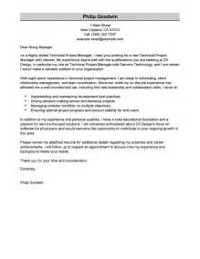 Technical Project Manager Cover Letter Examples
