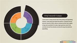 4 Steps Vinyl Record Powerpoint Diagram