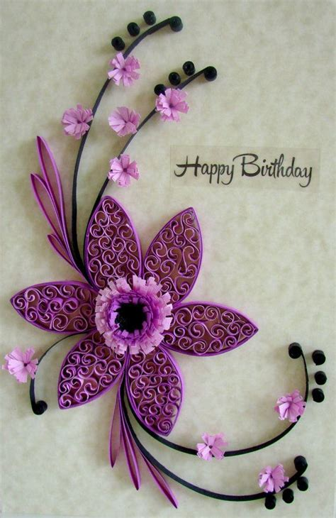 quilled birthday card quilling flowers handmade