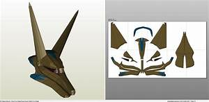 papercraft pdo file template for stargate anubis goa With anubis mask template