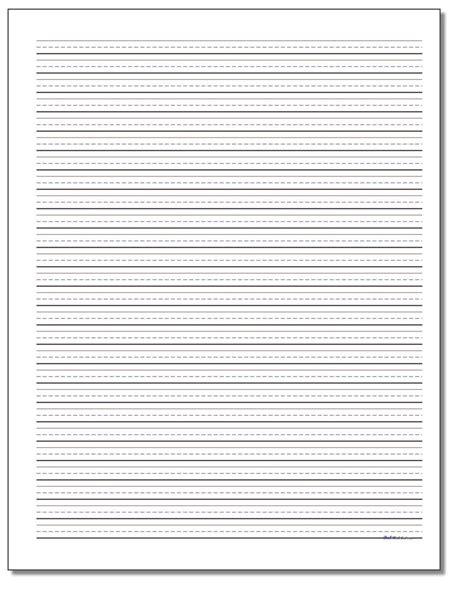 printable handwriting paper