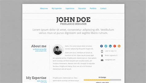 Bootstrap Resume Code by 20 Creative Resume Website Templates To Improve Your Presence