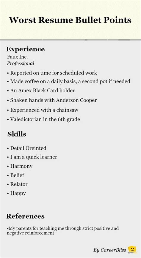 How Many Bullet Points On Resume by 202 Best Curriculum Vitae Resume Images On