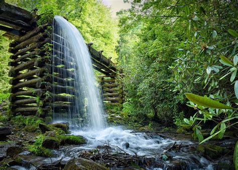 Waterfall, Landscape, Mill