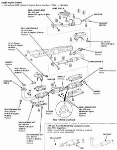 1998 Honda Accord Exhaust System Diagram