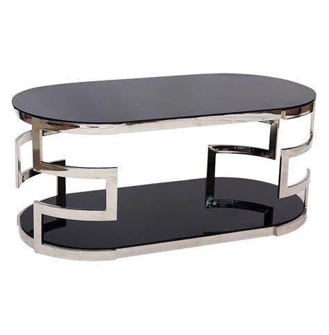 silver glass coffee table rhett modern hollywood regency silver metal glass coffee