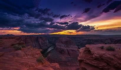Canyon Grand Landscape Arizona Sunset Horseshoe Bend