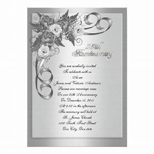 25th wedding anniversary invitations best wedding ideas With 25th wedding anniversary invitations quotes