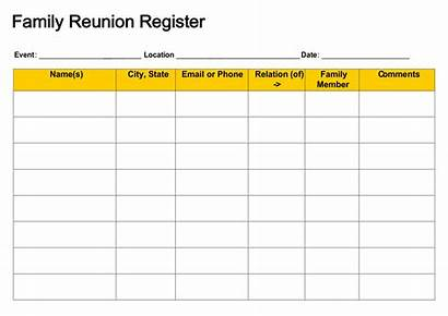 Reunion Registration Template Form Forms Printable Schrauben