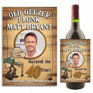 personalised old geezer birthday wine champagne bottle With 50th birthday wine label templates