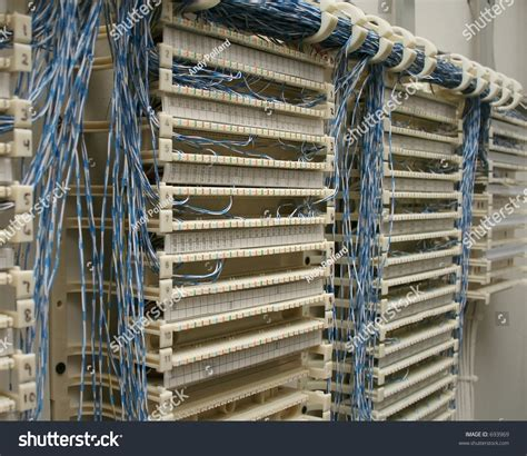 Wiring Closet Punch Down Block Stock Photo