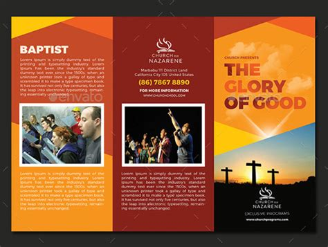 A4 Size Brochure Templates Psd Free Best 10 Popular Church Brochure Templates Design Free Psd