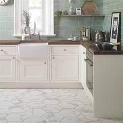 anais white hexagon tiles voronoi marble effect hexagon