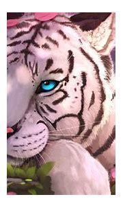 1920x1080 Blue Eyes White Tiger In Fantasy World 1080P ...