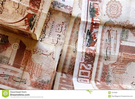 bureau de change dinar algerien dinar algérien photos stock image 1275583