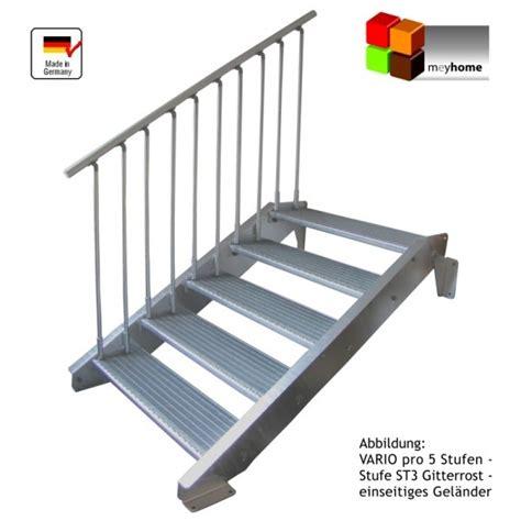 leiter treppe aussentreppe stahltreppe vario pro 1000 gh 118 140 160 ebay