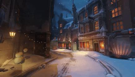 overwatch kings row   snow animated wallpaper
