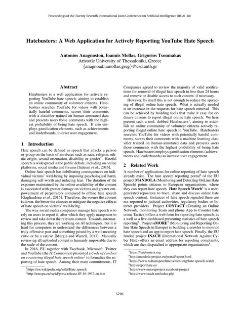 (PDF) Hatebusters: A Web Application for Actively