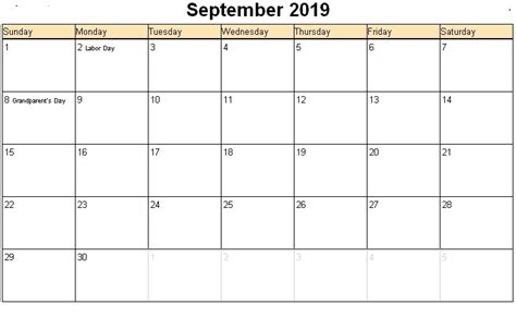 september  calendar south africa