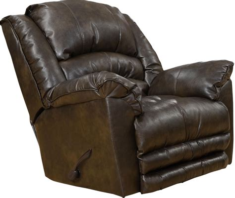 fillmore timber bonded leather recliner from catnapper