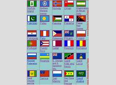 All flags on 8 short printable pages