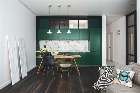 Green and Gold Interior With Modern Eclectic Vibe