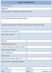 Chapter 11 bankruptcy form sample forms for Documents required for bankruptcy