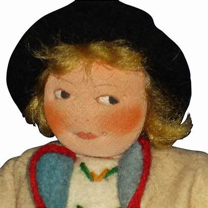 Round Face Doll Petterssen Tagged 1930s Heddal