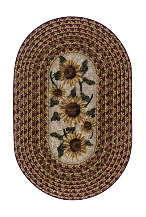 Kitchen Rugs Sunflowers by Sunflower Braid Kitchen Rug Home Sweet Home In 2019
