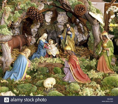 jesus christmas crib statue set buy cribs nativity in reute cloister bad waldsee holy stock photo royalty free