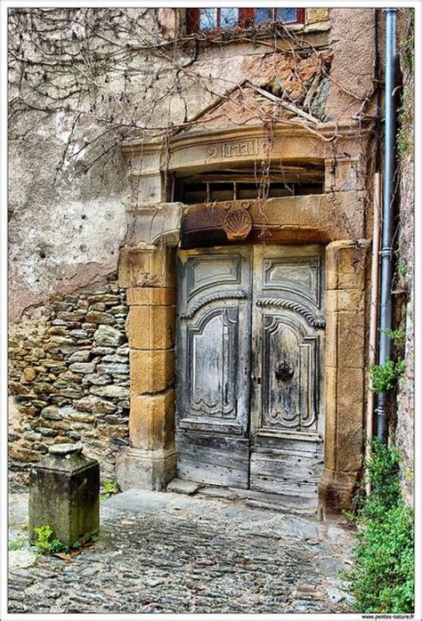 Wonderful Old Door In Conques, Aveyron, France Just Who