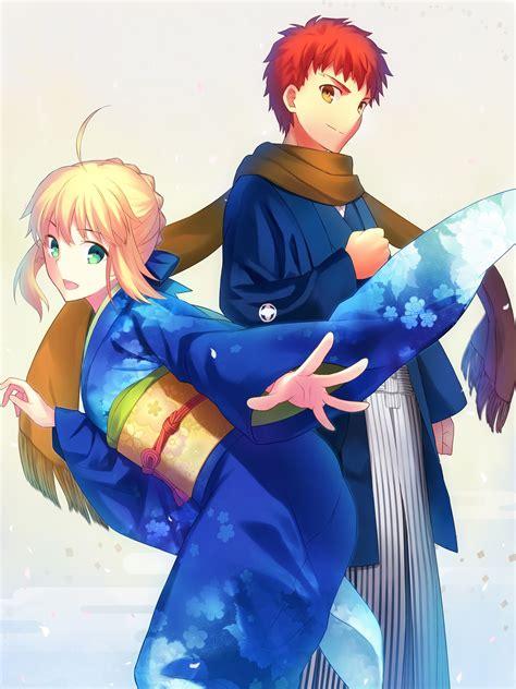 fate series anime girls saber shirou emiya wallpapers
